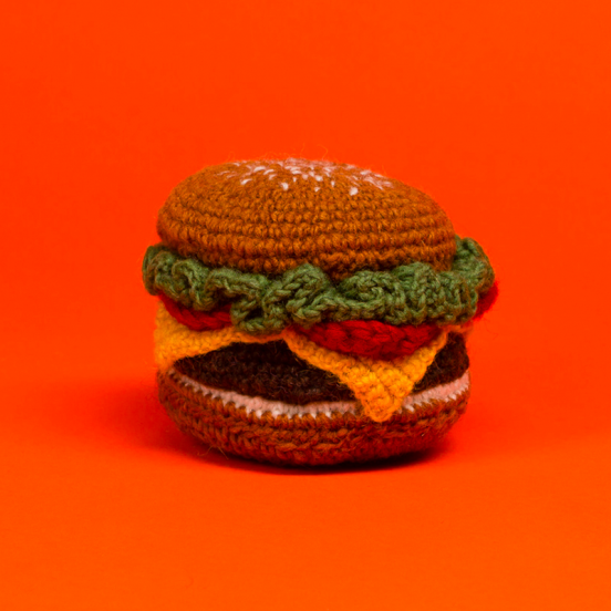 Jouet Burger en Crochet Fait Main & Fair Trade