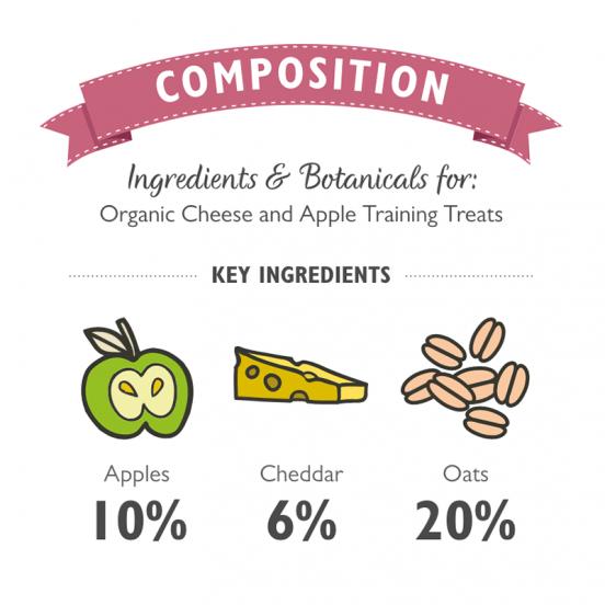 Friandises bio d'entrainement/ récompense au fromage et pomme - Klep's