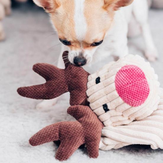 Peluche douce pour chien Renne Toffi