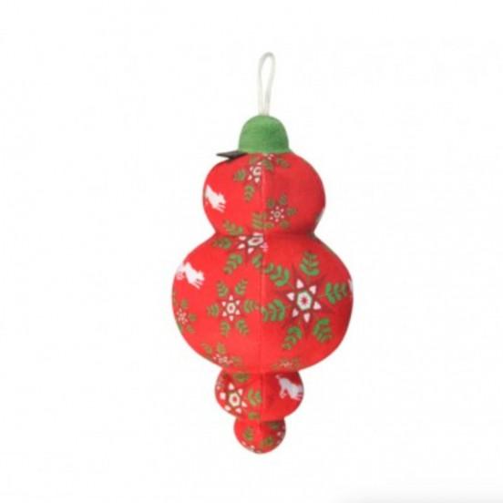 Boule de Noël Jubilee avec Couineur - rouge et vert