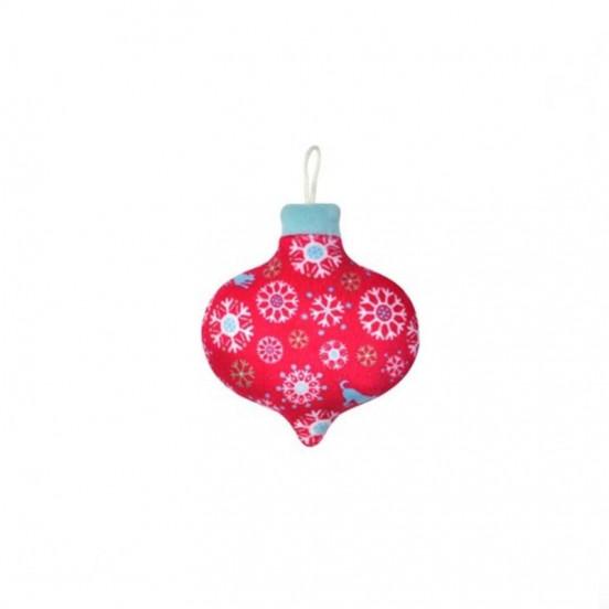Boule de Noël Flocons avec Couineur - rose et bleu