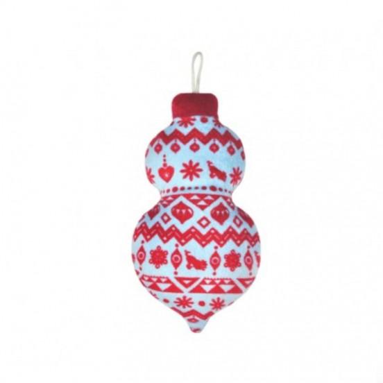 Boule de Noël Candy avec Couineur - bleu et rouge