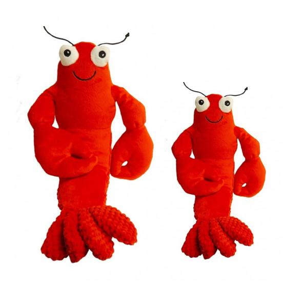 Peluche pour chien Résistante et Moelleuse Lobster - rouge