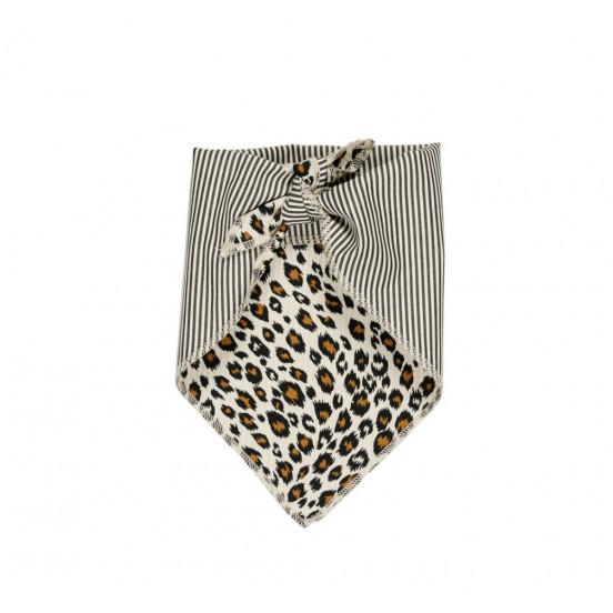 bandana pour chien léopard et rayures - coton