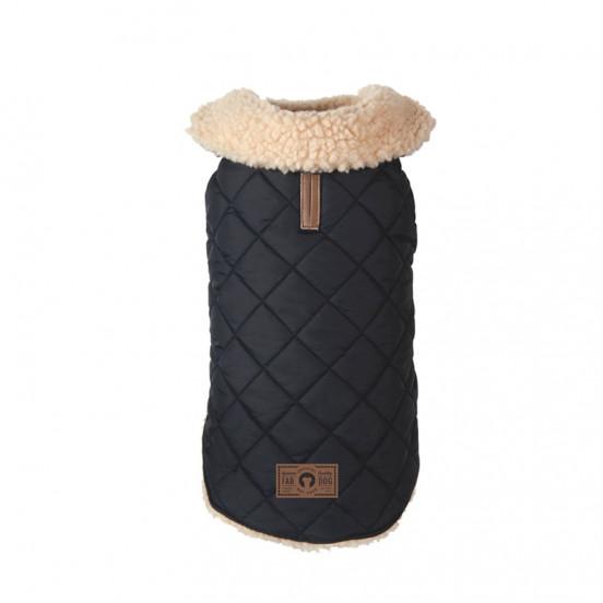 Manteau pour chien d'hiver matelassé Quilted - noir