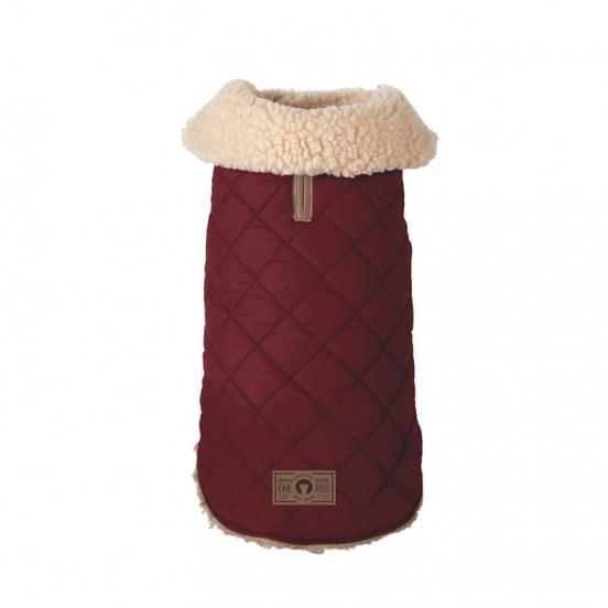 Manteau pour chien d'hiver matelassé Quilted - bordeaux