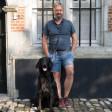 Laisse pour chien multiposition Clic - anthracite finitions cuir