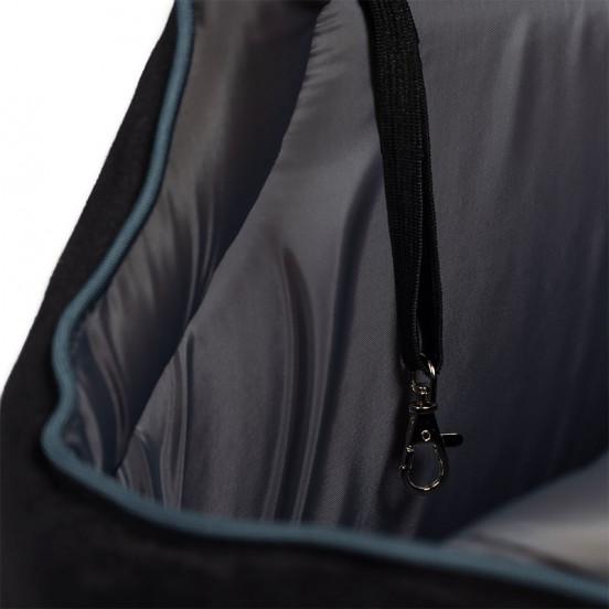 Sac de voyage pour chien zippé léger et confortable - noir