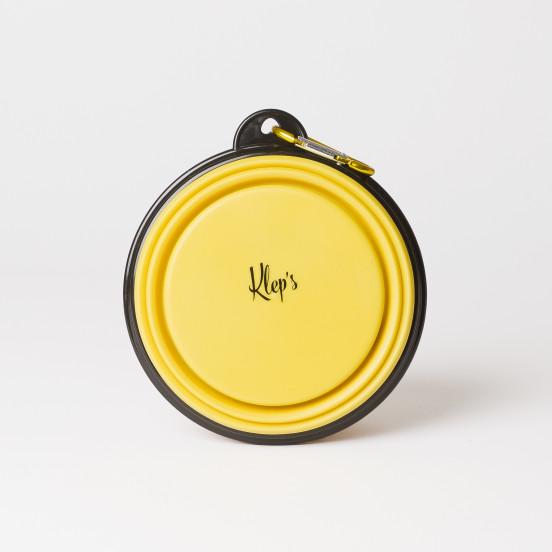 Gamelle rétractable pour chien - jaune