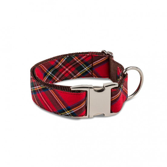Collier Fait Main en Tartan Ecossais Tremp - carreaux rouges