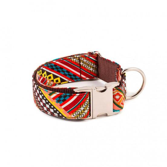 Collier Fait Main en Coton Multicolore Escranc - motifs géométriques