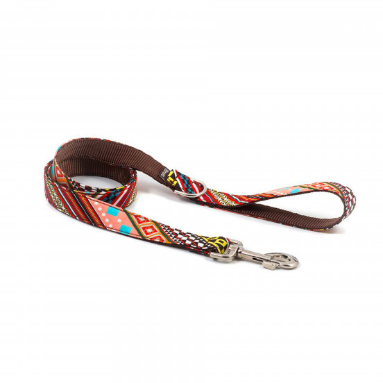 Laisse pour chien Faite Main Multicolore Escranc - motifs géométriques