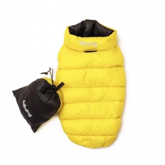 Doudoune Ultra Légère Chaude et Déperlante - Reversible jaune/noir