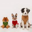 Pull pour chien Tricot Coloré Sans Manches avec Col Roulé - vert olive