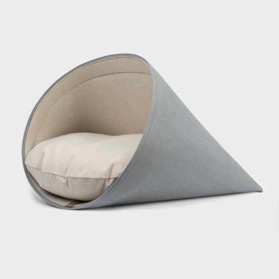 Coussin Niche Cocon Design Howly - gris bleu