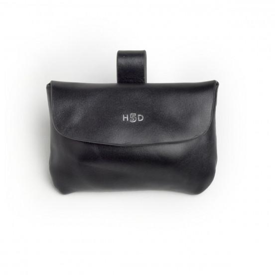 Pochette cuir sac à crottes - noir