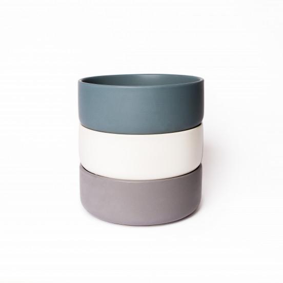 Gamelle Design et Solide en Céramique de Qualité - gris