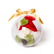 Grande Boule de Noël Transparente VIDE - Photo à titre indicatif : Jouet Lutin Couineur