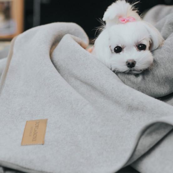 Plaid pour chien chaud et doux Zen - anthracite