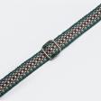 Collier fin en coton végan tissage fait main - vert