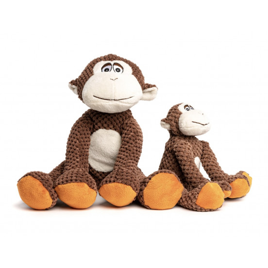Peluche pour chien résistante et moelleuse Monkey - brun