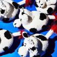 Jouet peluche pour chien forme Vache en crochet commerce équitable
