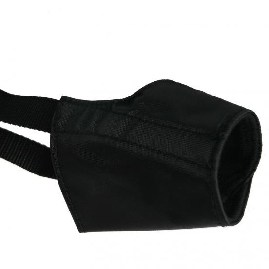 Muselière pour chien Simple et Légère en Nylon - noir